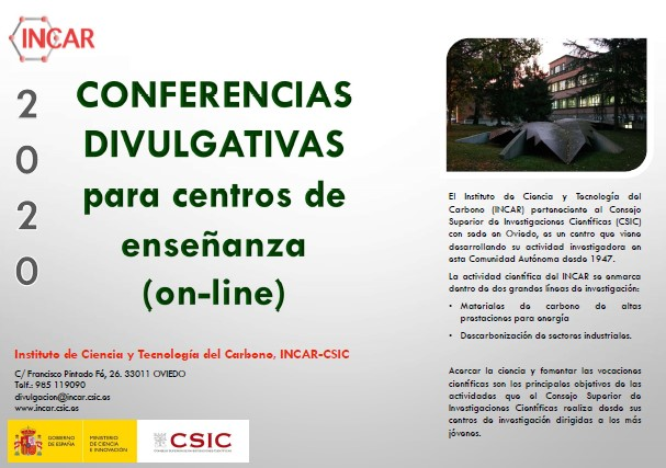 Conferencias divulgativas para centros de enseñanza