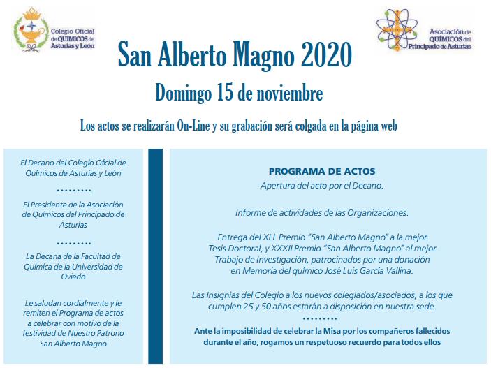 XLI Premio «San Alberto Magno» del Colegio Oficial de Químicos de Asturias y León y la Asociación de Químicos del Principado de Asturias a la mejor Tesis Doctoral