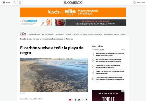 El carbón vuelve a teñir la playa de negro
