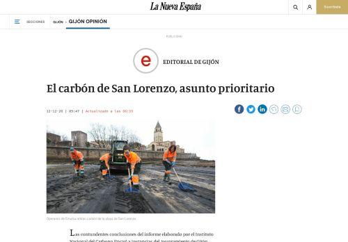El carbón de San Lorenzo, asunto prioritario