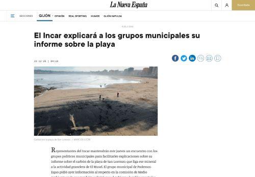 El INCAR explicará a los grupos municipales su informe sobre la playa