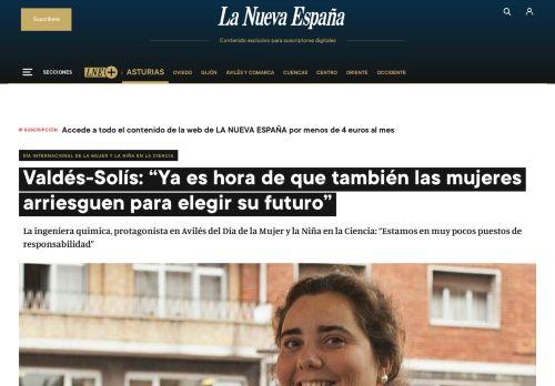 """Valdés-Solís: """"Ya es hora de que también las mujeres arriesguen para elegir su futuro"""""""