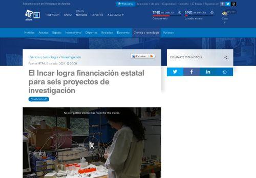 El INCAR logra financiación estatal para seis proyectos de investigación