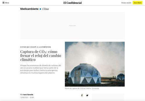 Captura de CO₂: cómo frenar el reloj del cambio climático